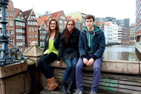 Aranza, Patryk, and Myself in Hamburg