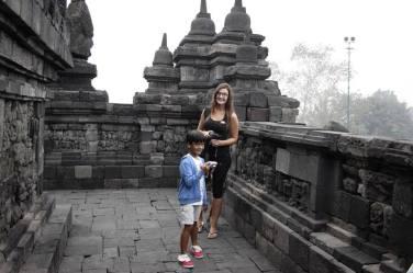 at Borobudur Temple
