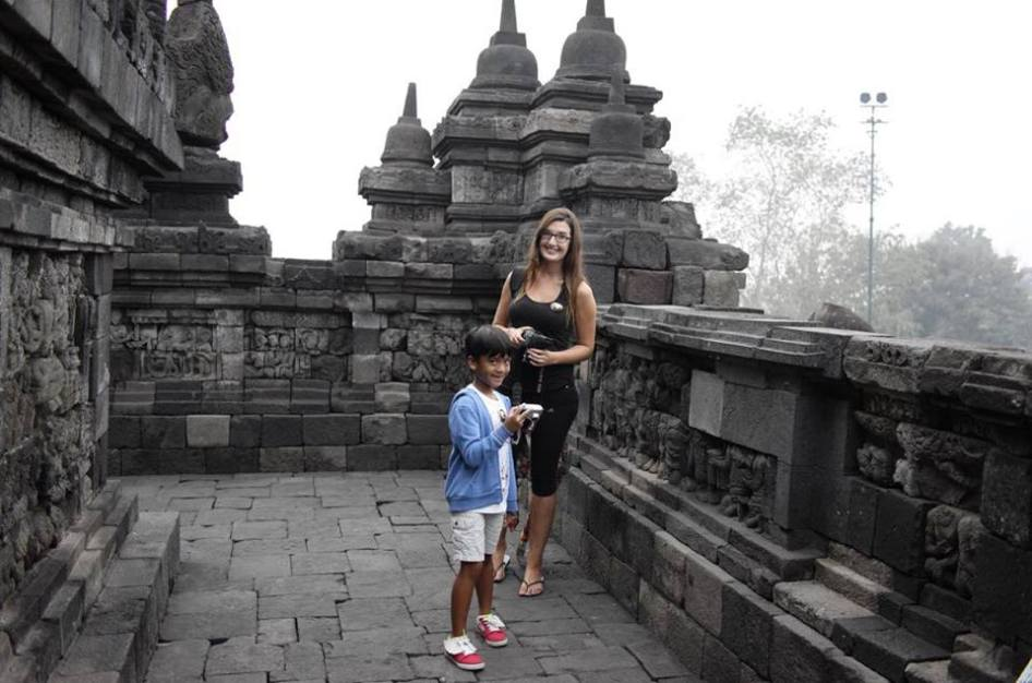 at Borobudur Temple