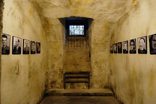 Museum Terror-Haus in Budapest in der ehemaligen Zentrale der Geheimpolizei mit den beruechtigten Folterkellern und Hinrichtungsstaetten, Gefaengniszelle | museum terror-house in Budapest, Hungary, in the earlier headquarters of the secret police with the infamous torture and execution places, prison