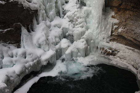 Johnston Canyon's Frozen Upper Falls!